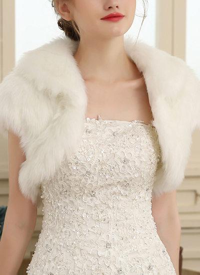 Artificiell Ull Wedding Bolerojackor