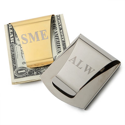 Groomsmen Geschenken - Persoonlijke Klassiek Roestvrij Staal Geld clip