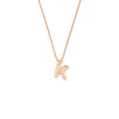 Bridesmaid Gifts - Personalized Simple Delicate Copper Initial Necklace