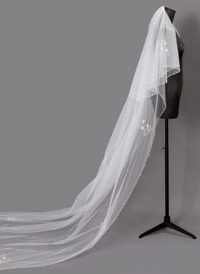 Two-tier Beaded Edge Cathedral Bridal Veils