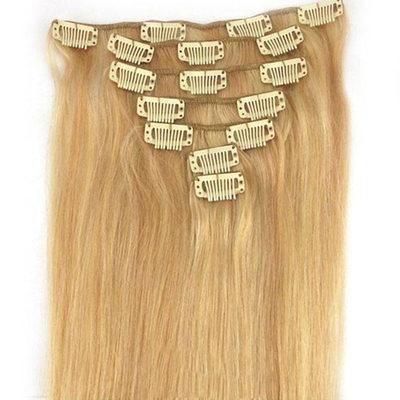 4A No remy Derecho Cabello humano Extensiones de cabello con clip 7PCS