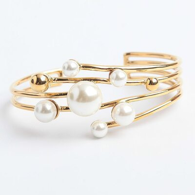 Anti-oxidation Cuff Armbånd og manchetter med Pearl -