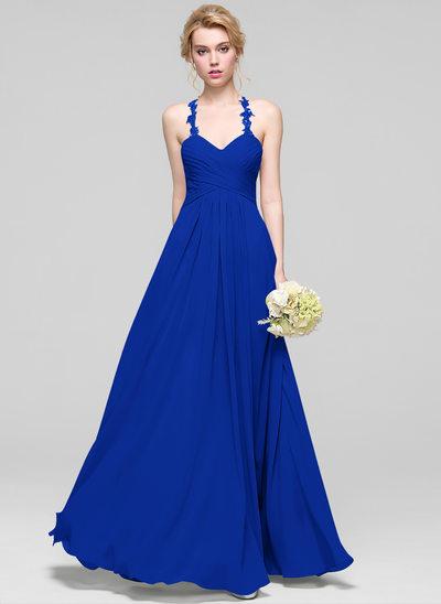 Çan/Prenses Sweetheart Uzun Etekli Mezuniyet Elbisesi Ile Büzgü