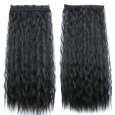 Water Wave Synthetic Hair Clip in Hair Extensions (Sold in a single piece) 80g