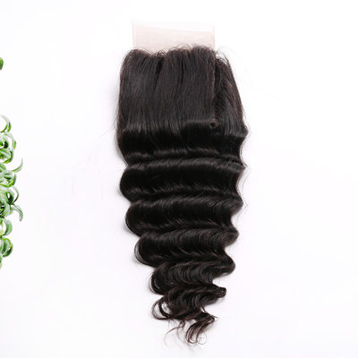 "4""*4"" 4A Deep Human Hair Closure (Sold in a single piece)"