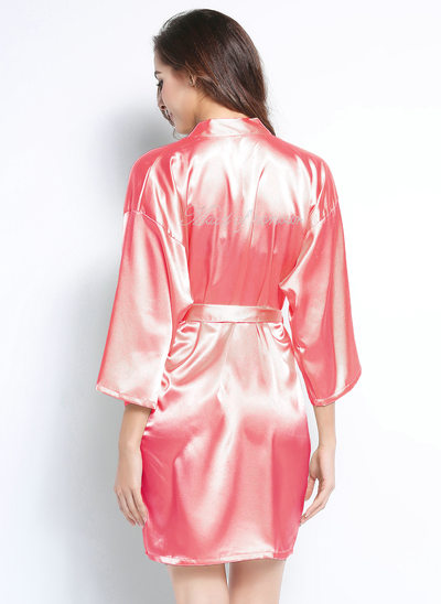 Personalized Charmeuse Bridesmaid Rhinestone Robes
