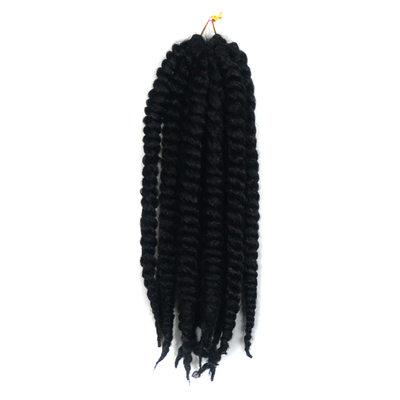Twist Braids Synteettiset hiukset punokset 12 kpl pakkausta kohti 90 g