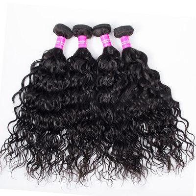 4A Ne remy Vodní vlna Lidský vlas Lidské vlasy tkát (Prodáno v jediném kusu) 100g