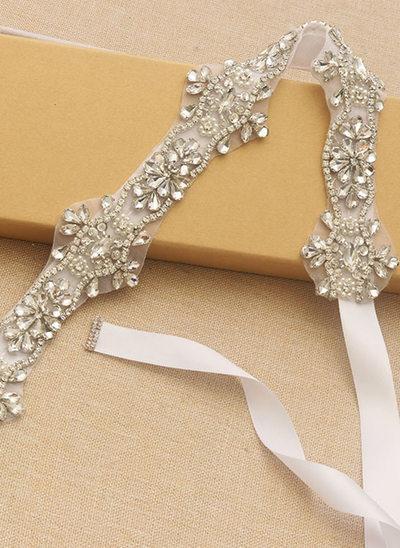 Elegante/Maravilloso Satén Fajas con Cuentas/Diamantes de imitación