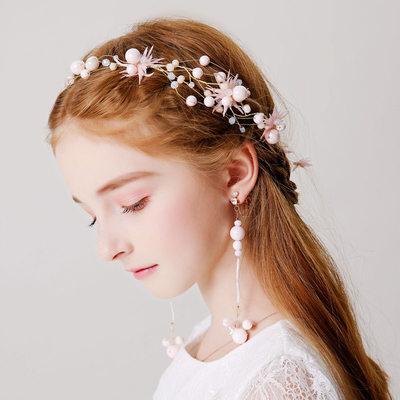 mit Faux-Perlen Stirnbänder/Ohrclip (3-er Set)