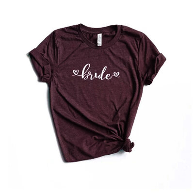 Bride Gaver - Canvas Style Enkle Polyester T-shirt