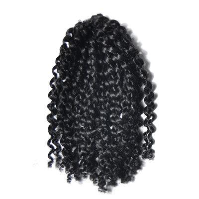 Afro Kinky Flätor syntetiska hår flätor (Uppsättning av 3) 60PCS 100g
