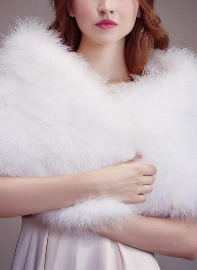 Feather/Fur Wedding Wrap