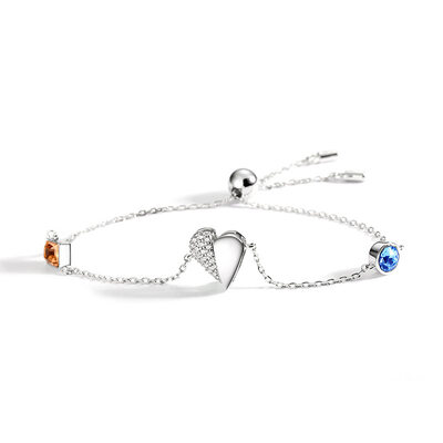 Anti-oxidation Delicate Chain Charm Bracelets Bolo Bracelets With Heart -
