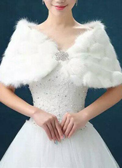 Imiteret Pels Bryllup Wrap