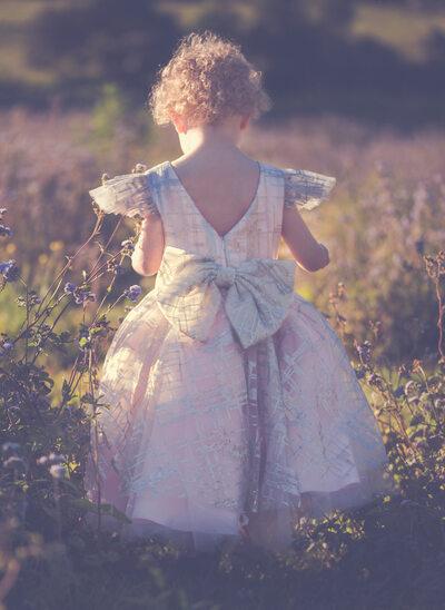 A-Line/Princess Knee-length Flower Girl Dress - Tulle Short Sleeves Scoop Neck