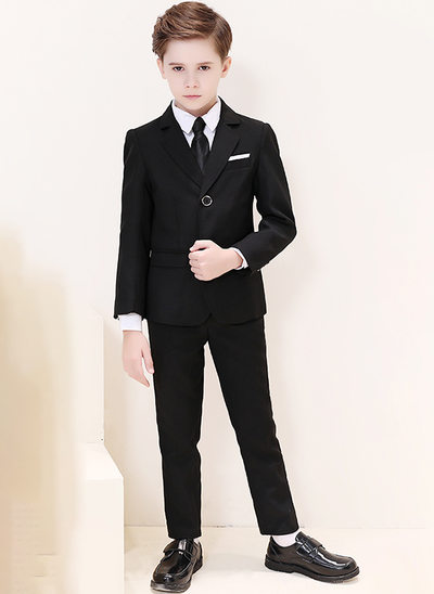 Boys 5 Pieces Classic Ring Bearer Suits /Page Boy Suits With Jacket Shirt Vest Pants Tie