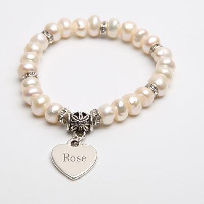 personlig Delikat kæde Brudepige armbånd Indledende armbånd med hjerte - Julegaver Til Hende