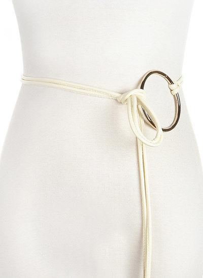 Elegant/Simple PU Belt With Alloy