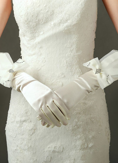 Fabric Elbow Length Bridal Gloves