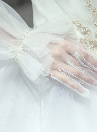 Tule/Kant Elbow Lengte Bruids Handschoenen