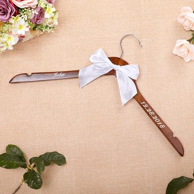 Presentes Padrinhos De Casamento - Personalizado Vintage De Madeira Cabide