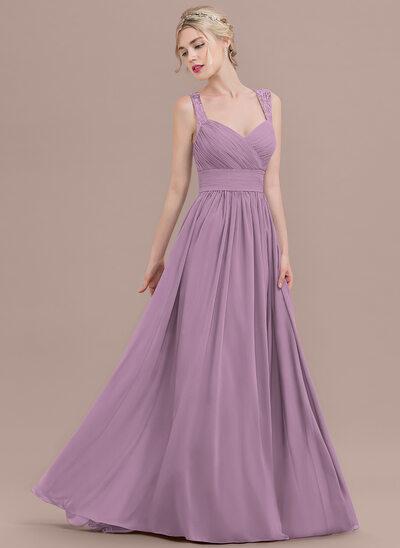 Vestidos princesa/ Formato A Amada Sweep/Brush trem Tecido de seda Vestido de baile com Pregueado Renda