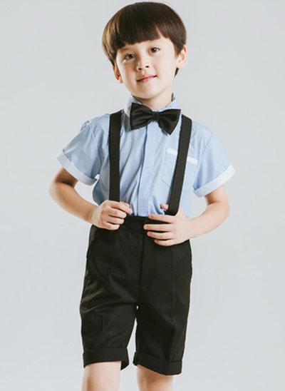 мальчиков 4 шт. симпатичный Костюмы кольценосцев /Page Boy Костюмы с Рубашка Штаны петля подвязка