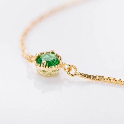Regalos De Navidad Para Ella Declaración Cadena delicada Bracelets De Mariée Bracelets de demoiselle .d'honneur con Cubic zirconia -