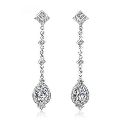 Ladies' Exquisite Copper/Cubic Zirconia Cubic Zirconia Earrings For Bride