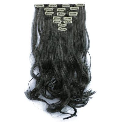Gevşek Sentetik Saçlar Saç Eklentilerindeki Klip 7pcs 130 gr
