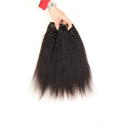 4A No remy Kinky Straight Cabello humano Postizo de cabello humano (Vendido en una sola pieza) 100g