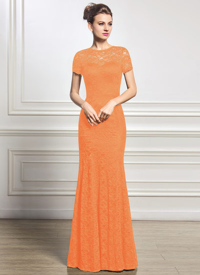 Trumpet/Mermaid Scoop Neck Floor-Length Lace Mother of the Bride Dress