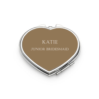 Bridesmaid Gifts - Personalized Classic Special Stainless Steel Compact Mirror