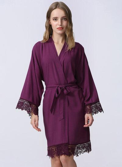 Spets Brud brudtärna Blank Robes Lace Robes