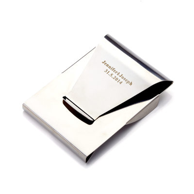 Marié - Personnalisé Modern Style Mode Acier Inoxydable Pince à billets (Vendu dans une seule pièce)