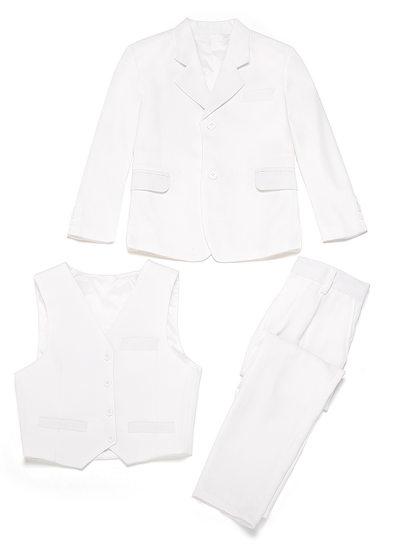 Garçons Solide Costumes pour les porteurs de bague avec Veste Gilet Un pantalon