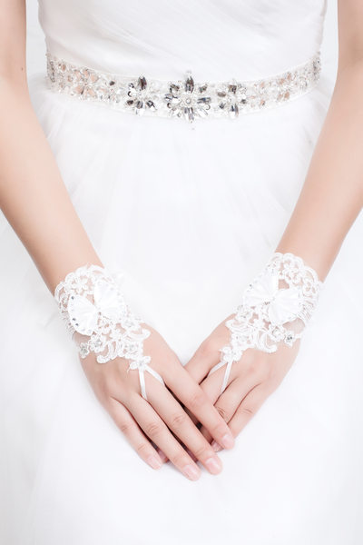 Kant Wrist Lengte Bruids Handschoenen