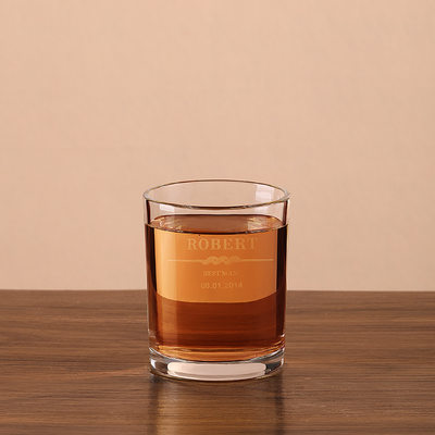 Groomsmen Gaver - Personlig Moderne Glass Whisky Glass