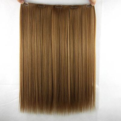 Derecho Pelo sintético Extensiones de cabello con clip (Vendido en una sola pieza)