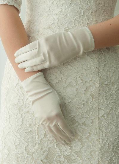 Satijn Wrist Lengte Bruids Handschoenen