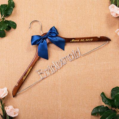 Cadeaux De Demoiselle D'honneur - Personnalisé Beau Style Classique En Bois Cintre