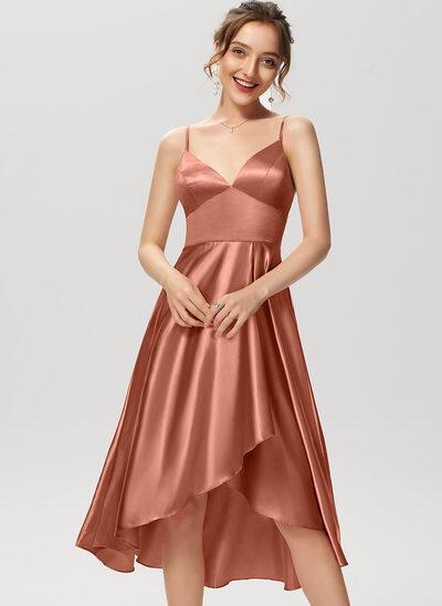 Linia A Litera V Asymetryczny Rayon Sukienki Koktajlowe
