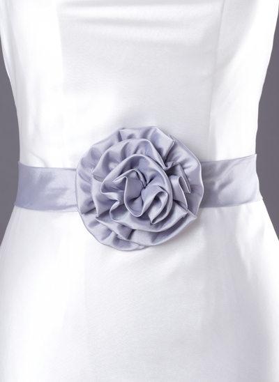 Beau Charmeuse Ceintures avec Une fleur