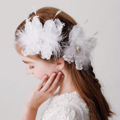 mit Faux-Perlen/Feder Haarnadeln (Set von 2)