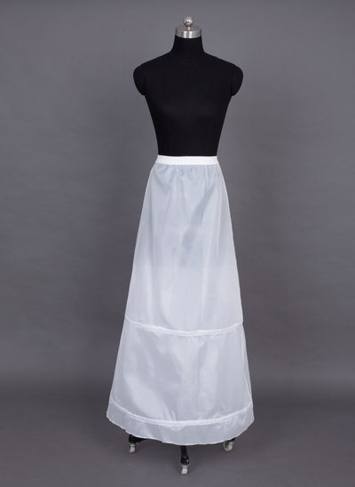 Women Nylon Floor-length 1 Tiers Petticoats
