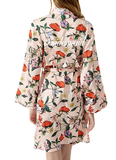 Satin mit Kurz Personalisierte Roben Kimono-Roben