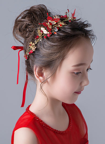 Alloy With Flower Headbands (Sold in a single piece)