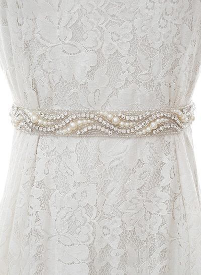 Niza Satén Fajas con Diamantes de imitación/La perla de faux