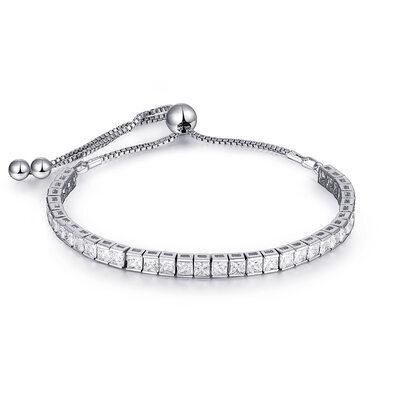 Cadena delicada Bracelets De Mariée Bracelets Bolo con Cubic zirconia -